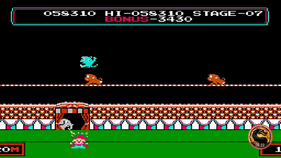 omargeddon: Circus Charlie [Game B] (NES/Famicom Emulated) 58,310 points on 2019-05-26 21:09:43