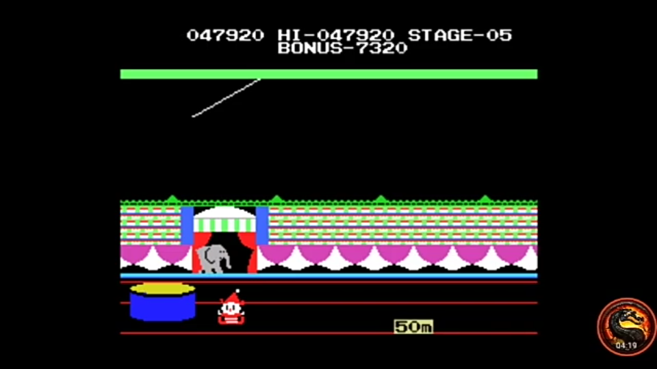 omargeddon: Circus Charlie (MSX Emulated) 47,920 points on 2020-12-24 16:10:02