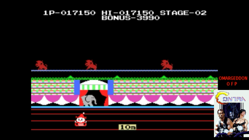 omargeddon: Circus Charlie (MSX Emulated) 17,150 points on 2017-07-22 10:59:06