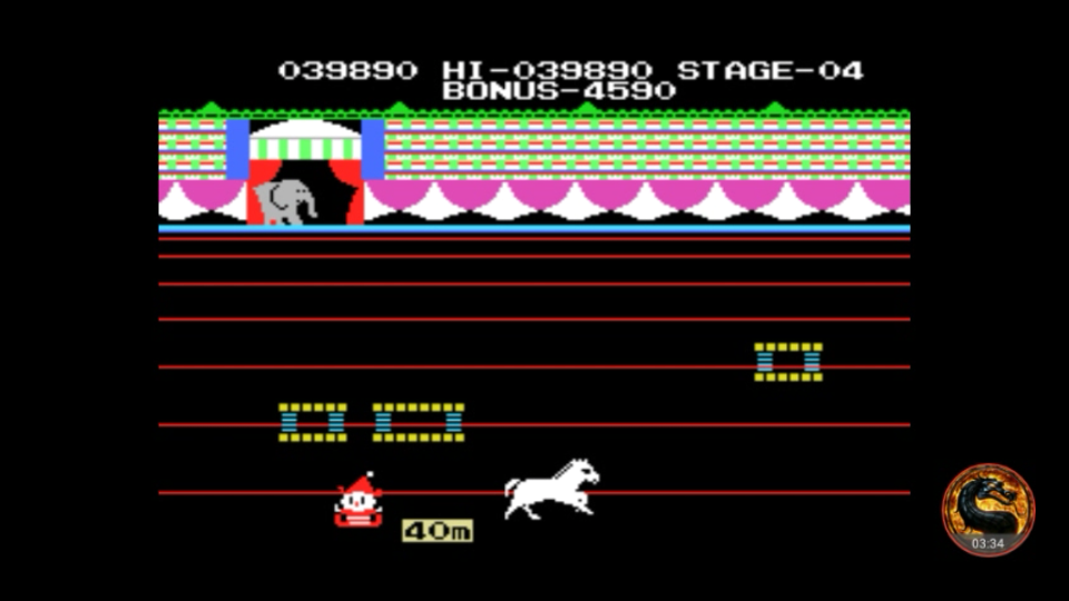 omargeddon: Circus Charlie (MSX Emulated) 39,890 points on 2018-09-27 15:42:41