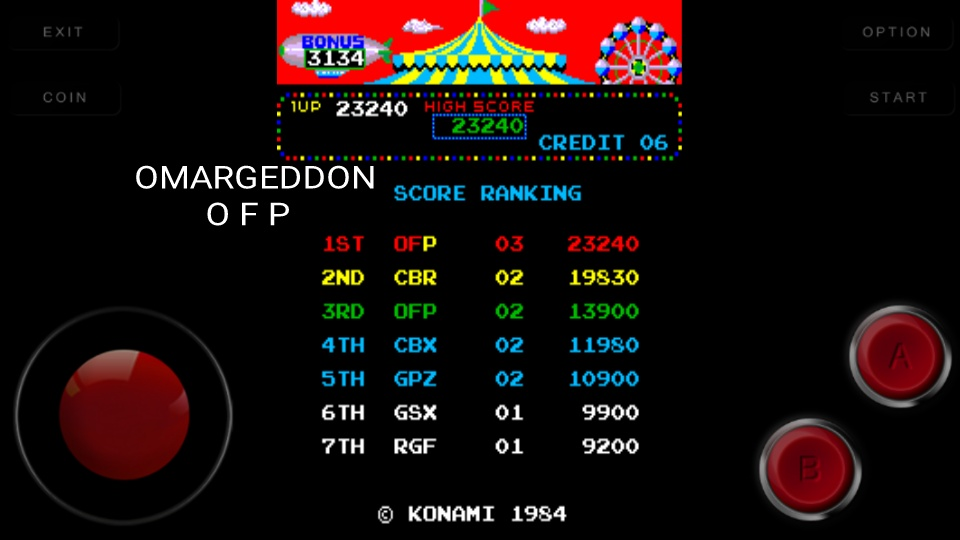 omargeddon: Circus Charlie [No Level Select] (Arcade Emulated / M.A.M.E.) 23,240 points on 2016-09-18 23:38:45