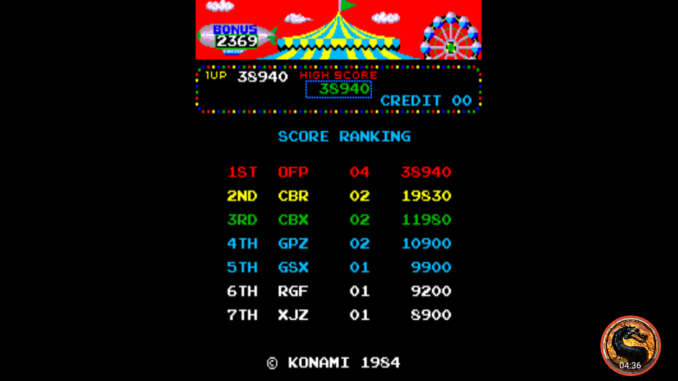 Circus Charlie [No Level Select] 38,940 points