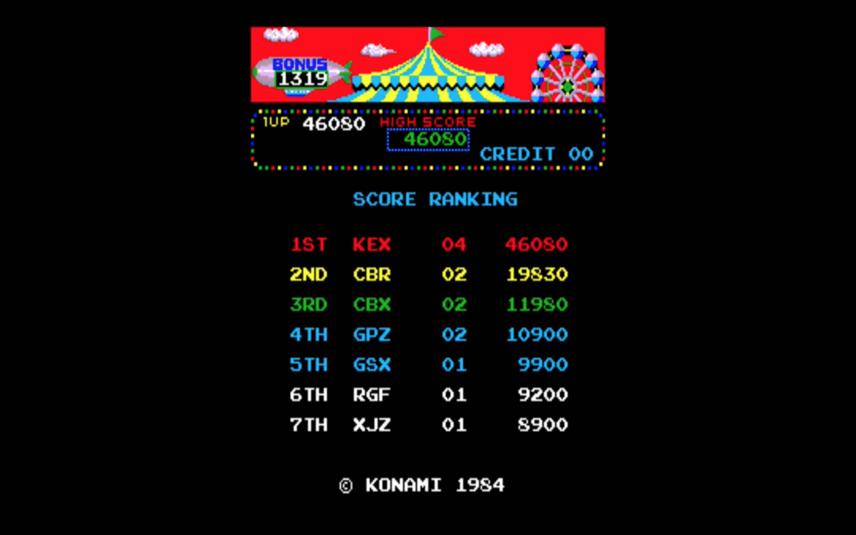 Circus Charlie [No Level Select] 46,080 points