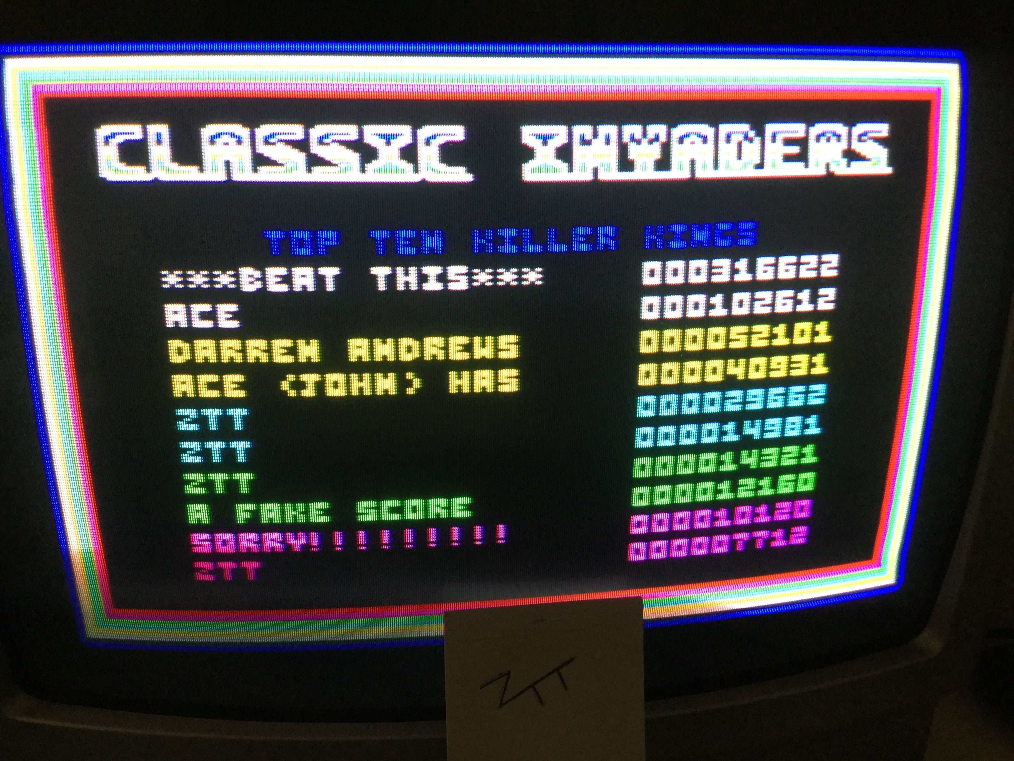 Frankie: Classic Invaders (Amstrad CPC) 29,662 points on 2017-01-17 05:42:39
