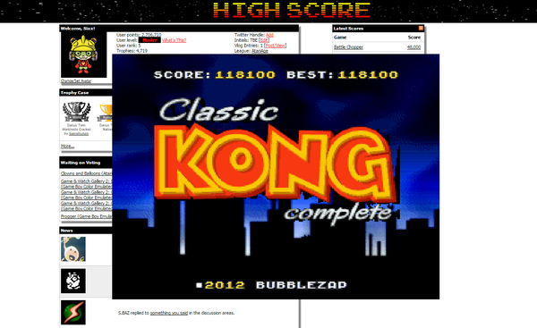 Sixx: Classic Kong (SNES/Super Famicom Emulated) 118,100 points on 2015-06-19 17:03:38