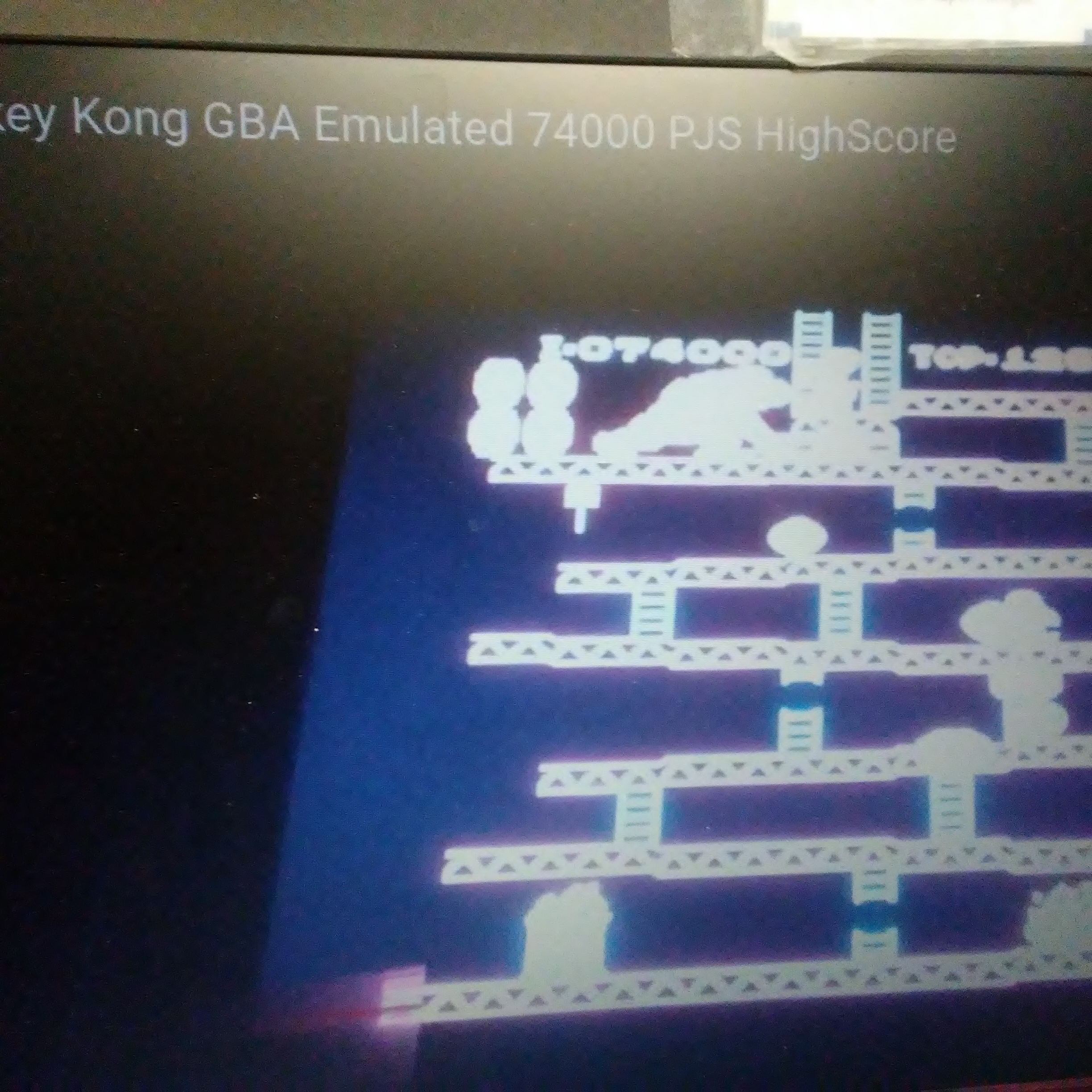 Pjsteele: Classic NES Series: Donkey Kong (GBA Emulated) 74,000 points on 2017-01-03 13:18:57