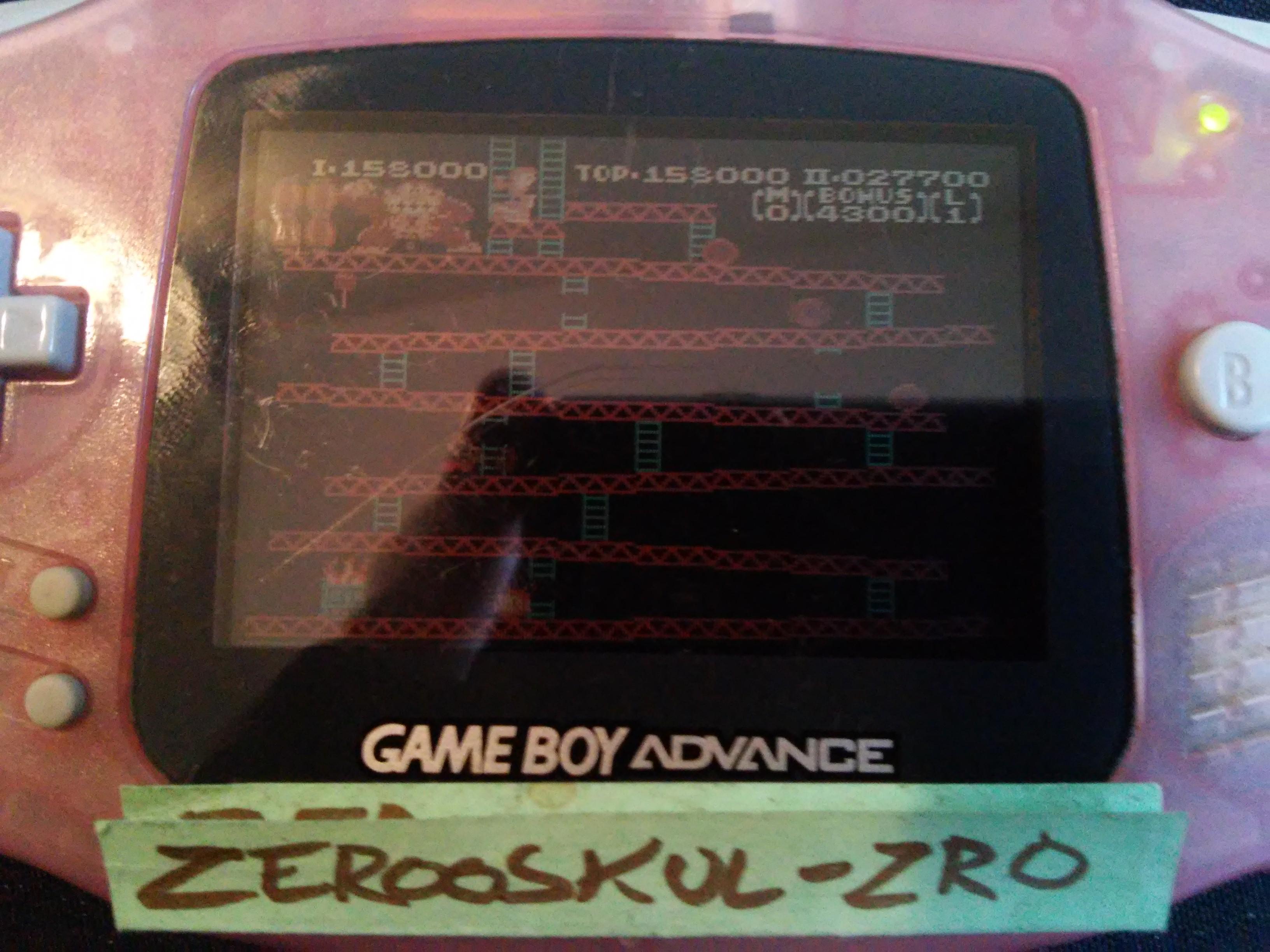 zerooskul: Classic NES Series: Donkey Kong (GBA) 158,000 points on 2018-09-27 08:50:21