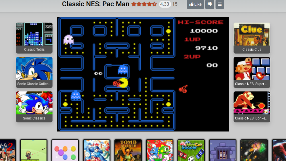 alpha: Classic NES Series: Pac-Man (GBA Emulated) 9,710 points on 2020-08-24 12:13:39