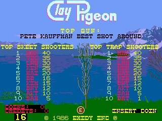 BarryBloso: Clay Pigeon: Skeet [claypign] (Arcade Emulated / M.A.M.E.) 16 points on 2015-06-19 07:06:30