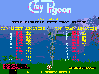 BarryBloso: Clay Pigeon: Trap [claypign] (Arcade Emulated / M.A.M.E.) 17 points on 2015-06-19 07:07:34