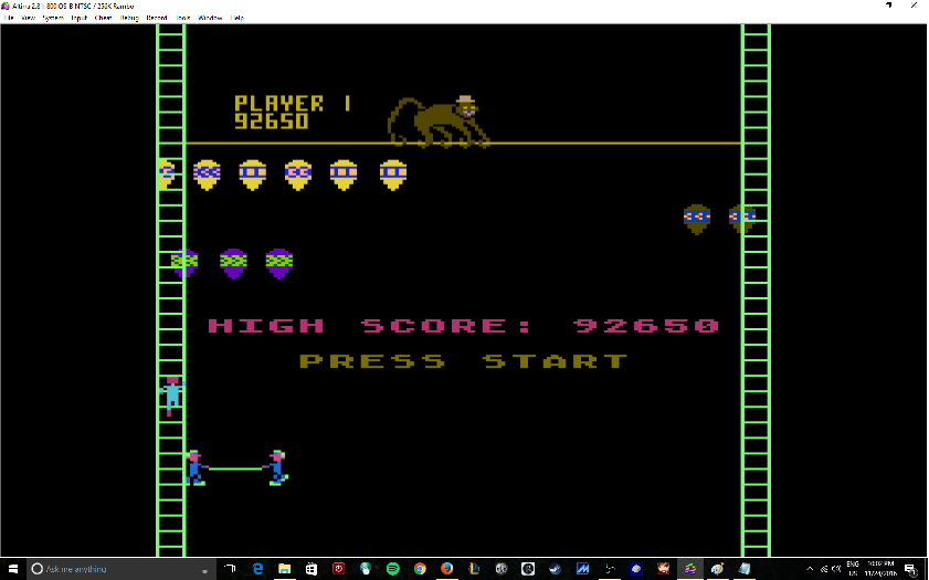 MikeDietrich: Clowns And Ballons: Expert (Atari 400/800/XL/XE Emulated) 92,650 points on 2016-11-24 22:13:58