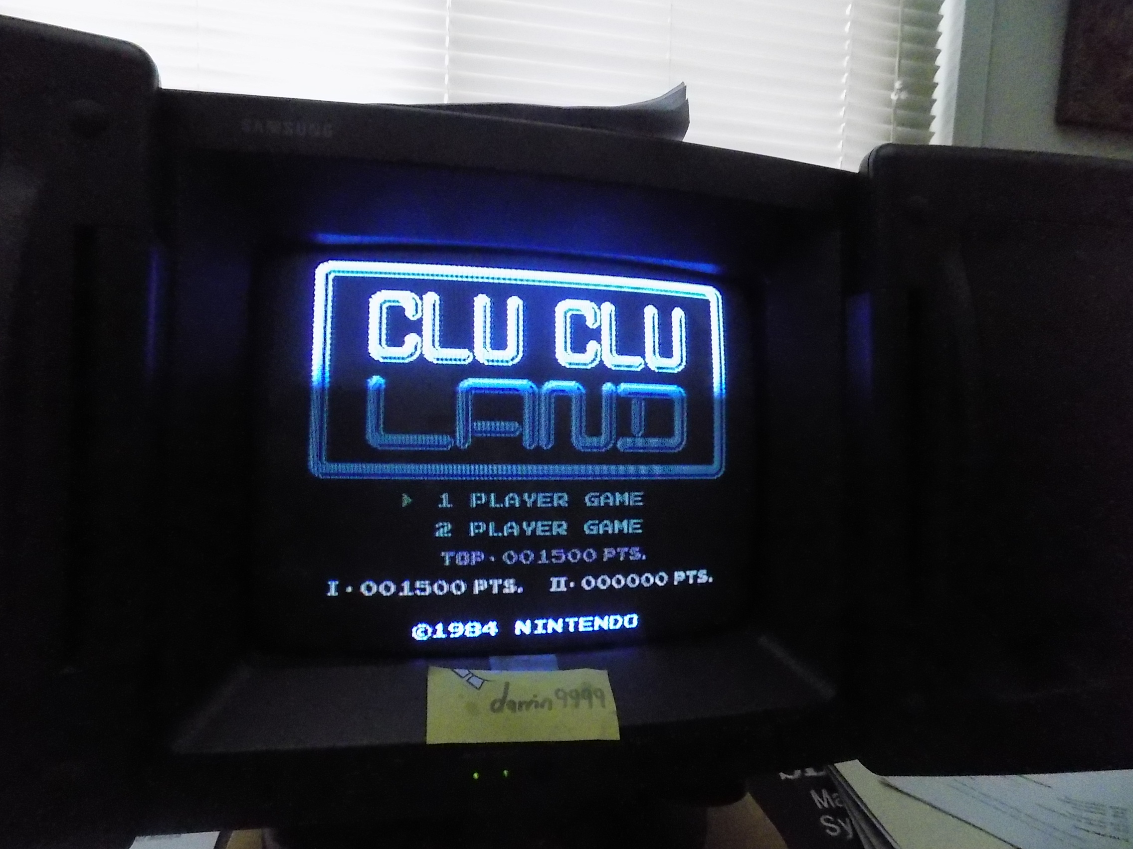darrin9999: Clu Clu Land (NES/Famicom) 1,500 points on 2018-02-11 11:17:18