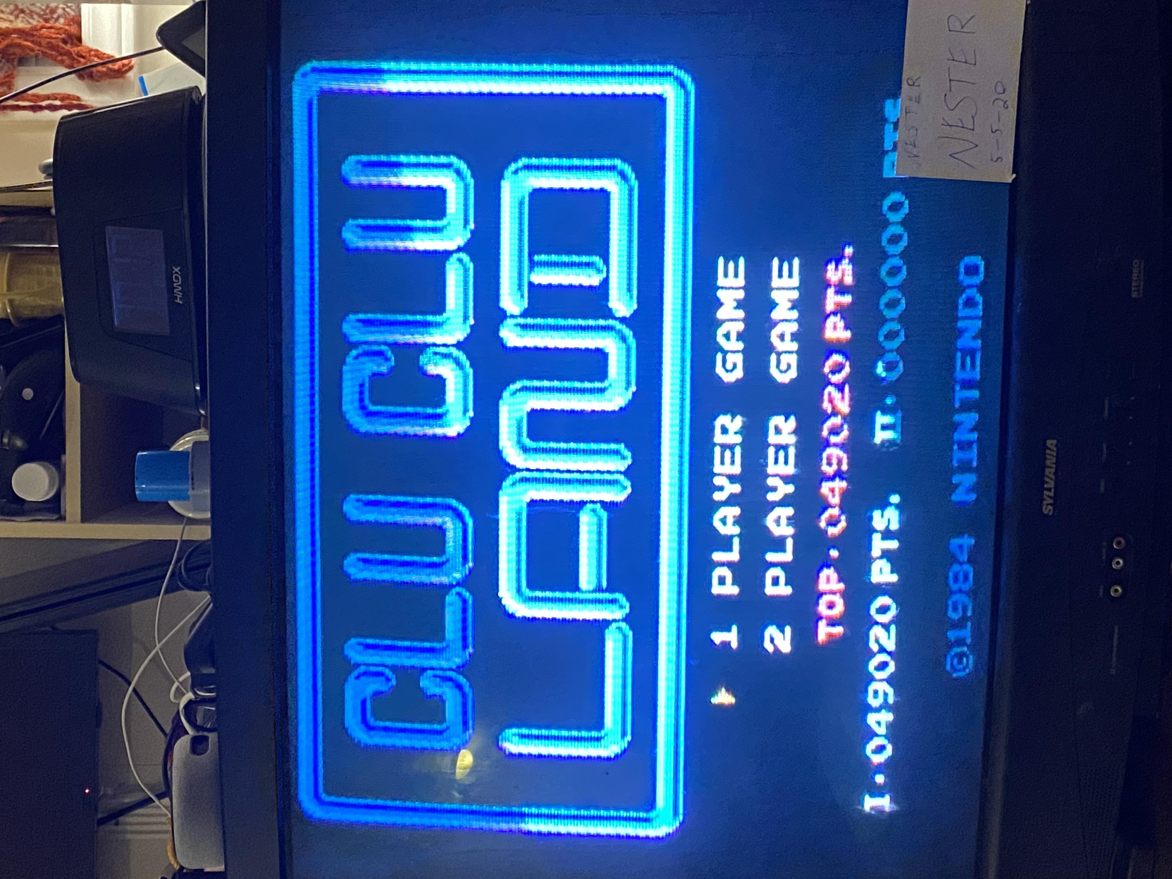 nester: Clu Clu Land (NES/Famicom) 49,020 points on 2020-05-05 21:16:34