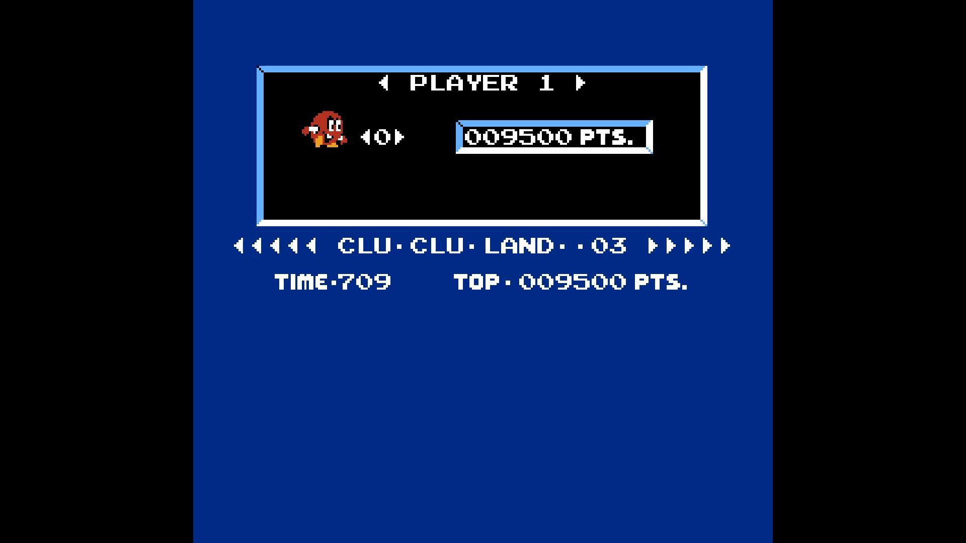 Clu Clu Land 9,500 points