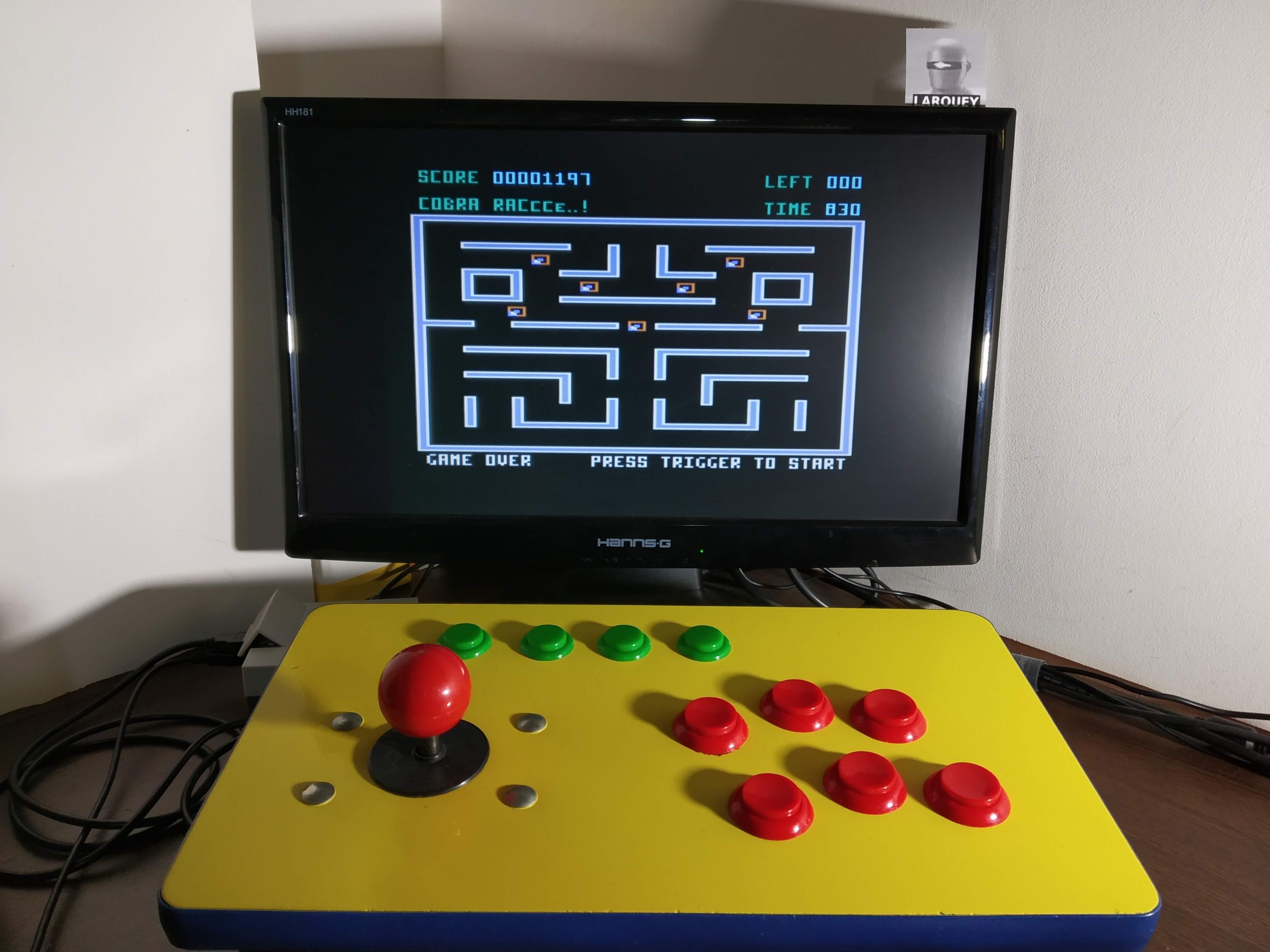 Larquey: Cobra Raccce (Atari 400/800/XL/XE Emulated) 1,197 points on 2020-01-06 11:06:51