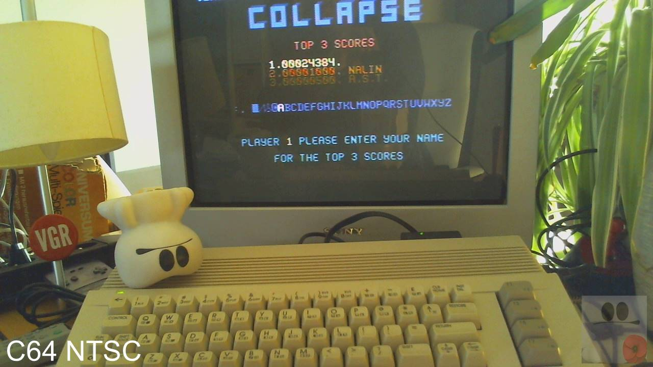 GTibel: Collapse (Commodore 64) 24,384 points on 2020-08-14 02:18:51