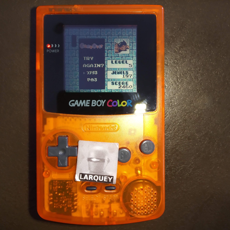 Larquey: Columns GB: Classic (Game Boy Color) 2,460 points on 2020-07-29 05:28:55
