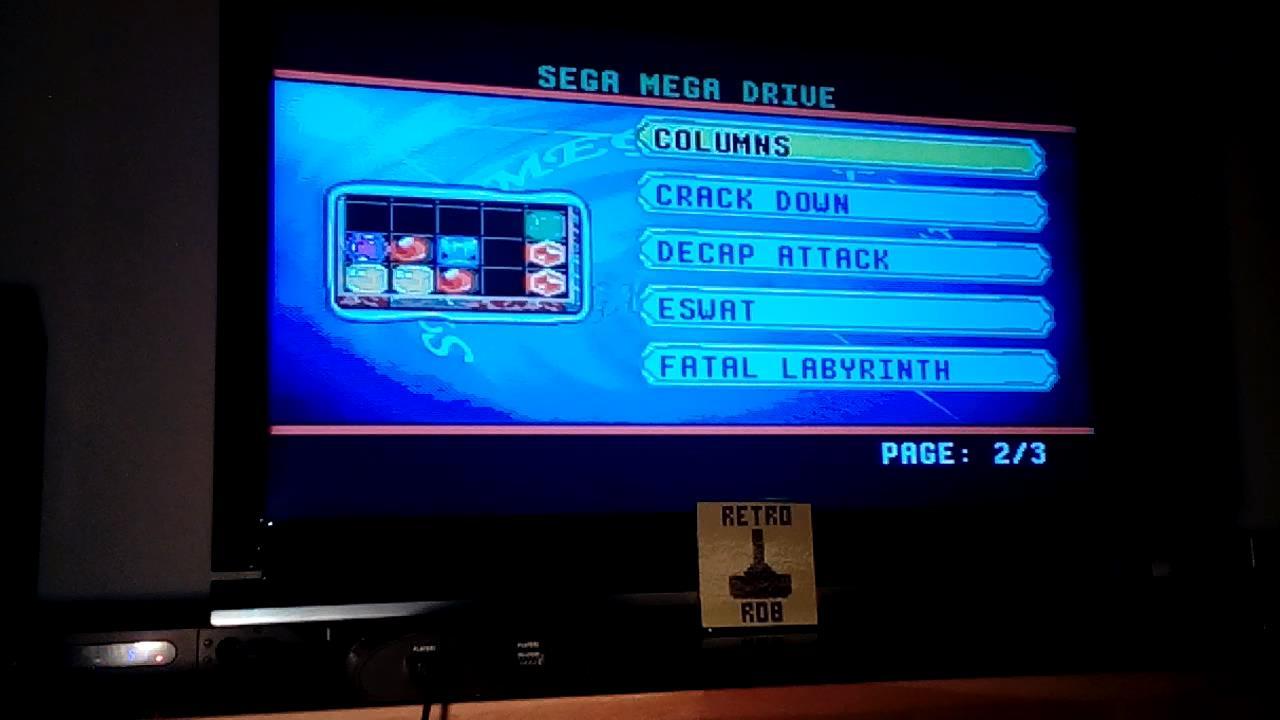 RetroRob: Columns (Sega Genesis / MegaDrive Emulated) 7,601 points on 2019-11-10 14:45:35
