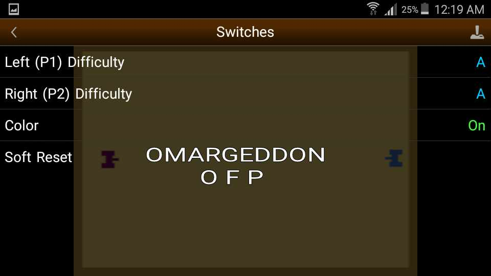 omargeddon: Combat: Game 6 (Atari 2600 Emulated Expert/A Mode) 19 points on 2016-10-05 00:25:34