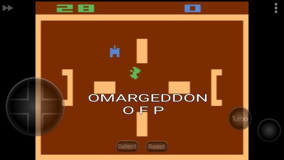 omargeddon: Combat: Game 6 (Atari 2600 Emulated Novice/B Mode) 28 points on 2016-10-05 00:29:07