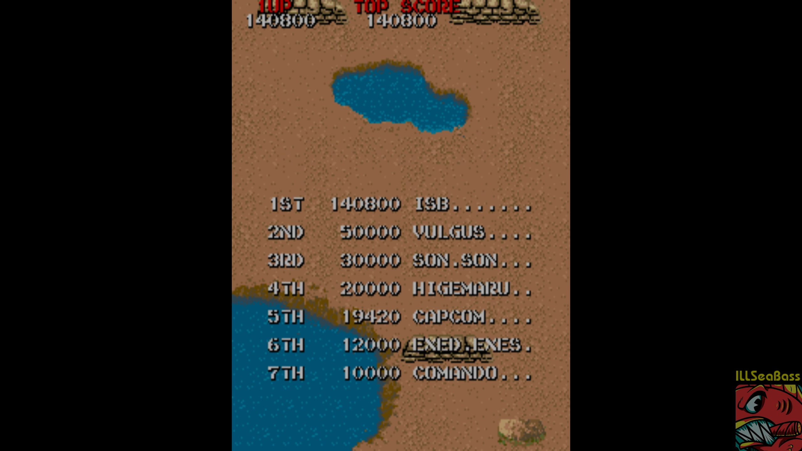 ILLSeaBass: Commando (Arcade Emulated / M.A.M.E.) 140,800 points on 2018-04-29 01:08:48