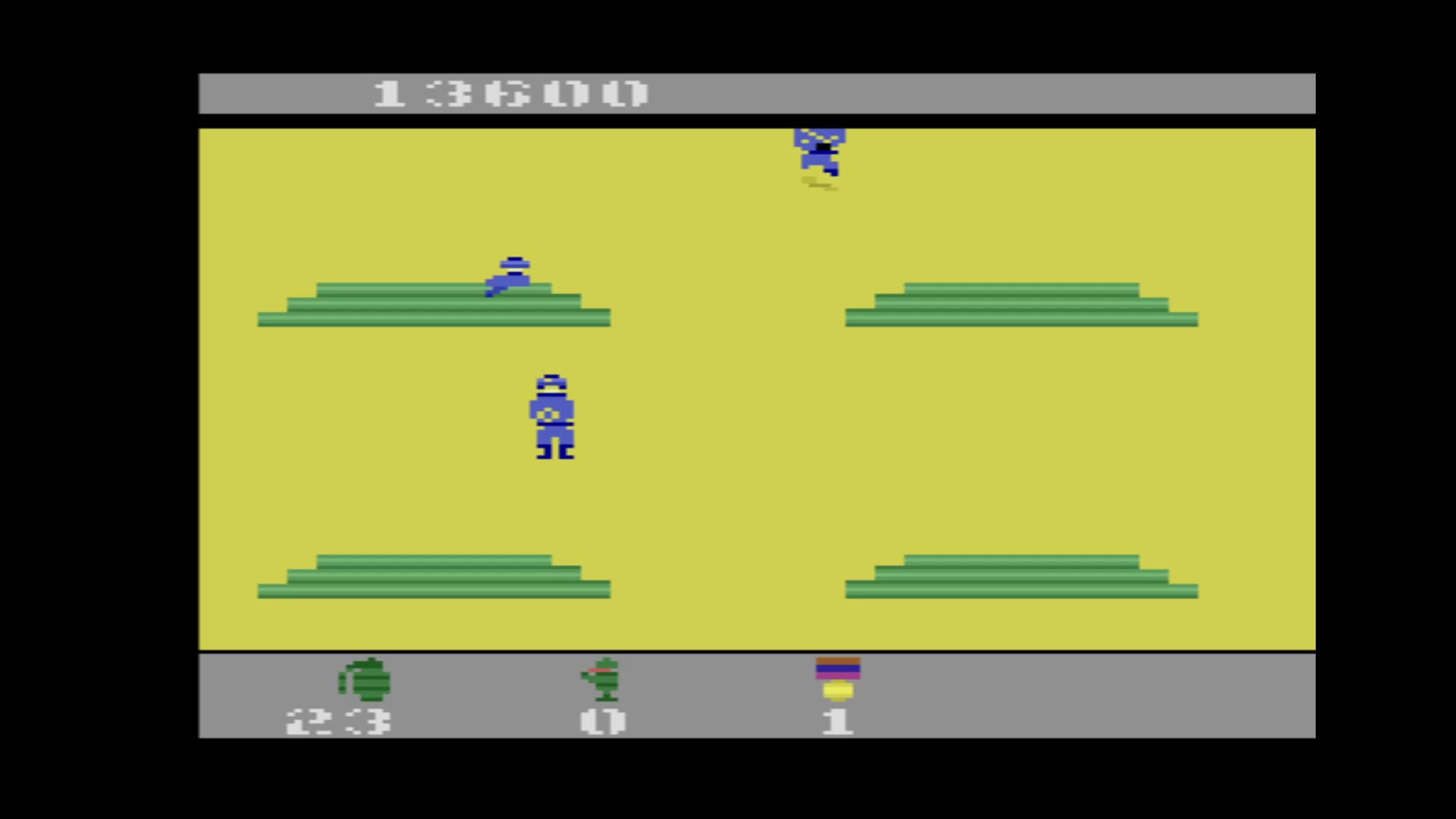 AkinNahtanoj: Commando (Atari 2600 Emulated) 13,600 points on 2020-08-17 05:24:12
