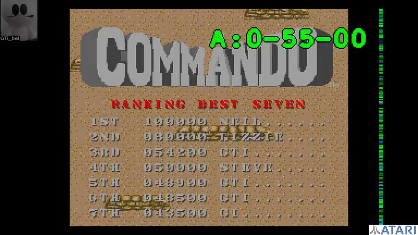 Commando 54,200 points