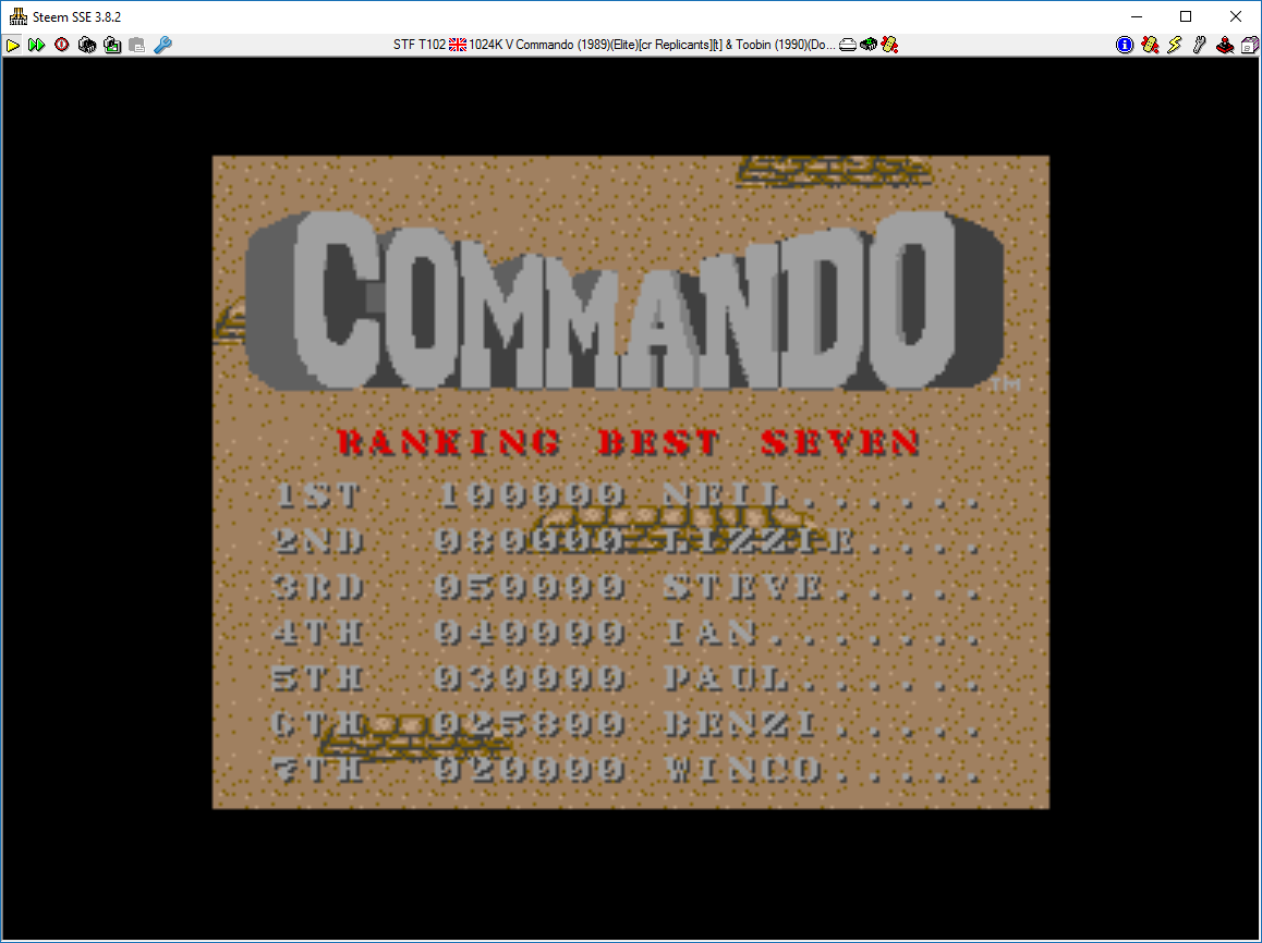 Commando 25,800 points