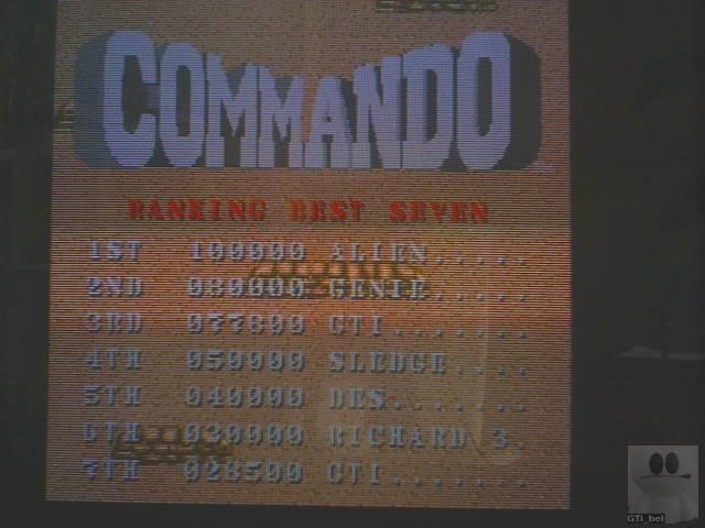 GTibel: Commando (Atari ST) 77,800 points on 2019-10-26 05:58:41