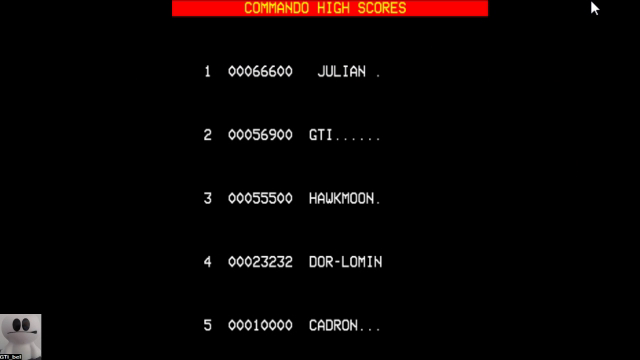 GTibel: Commando (BBC Micro Emulated) 56,900 points on 2017-10-30 07:31:15