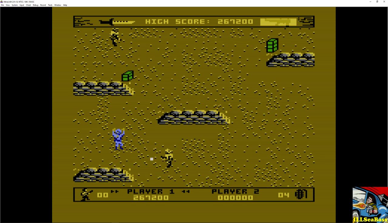 ILLSeaBass: Commando [Beginner] (Atari 400/800/XL/XE Emulated) 267,200 points on 2016-12-26 00:06:14