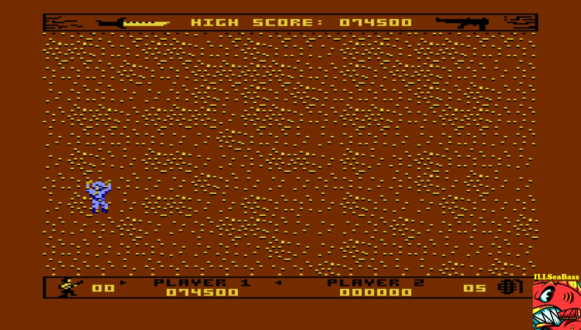 ILLSeaBass: Commando [Expert] (Atari 400/800/XL/XE Emulated) 74,500 points on 2017-07-04 02:53:50