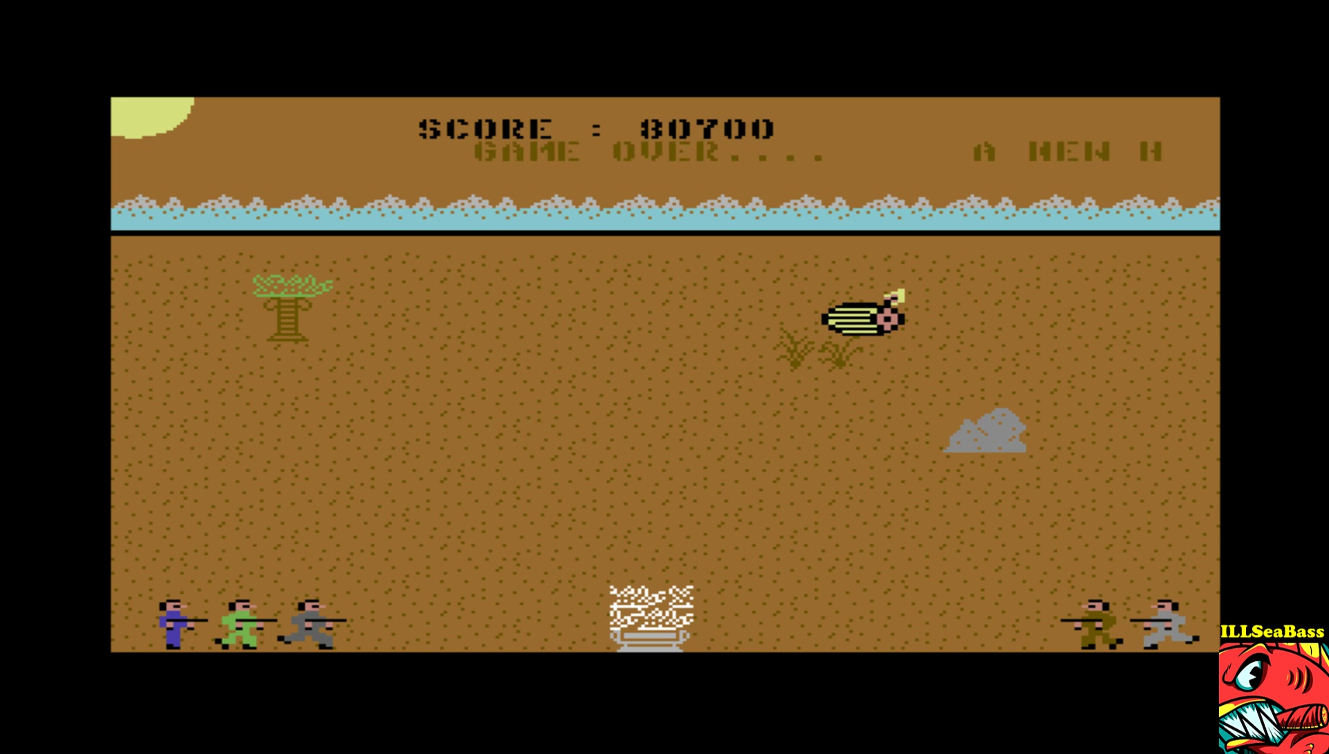 ILLSeaBass: Commando Libya (Commodore 64 Emulated) 80,700 points on 2017-04-15 10:17:25