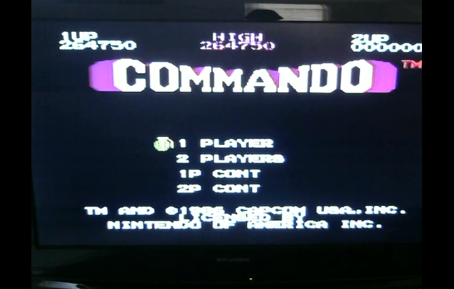 bensweeneyonbass: Commando (NES/Famicom) 264,750 points on 2015-12-17 15:19:55