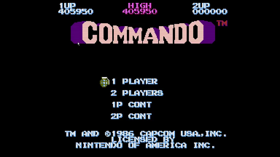 GTibel: Commando (NES/Famicom Emulated) 405,950 points on 2016-07-03 09:41:35
