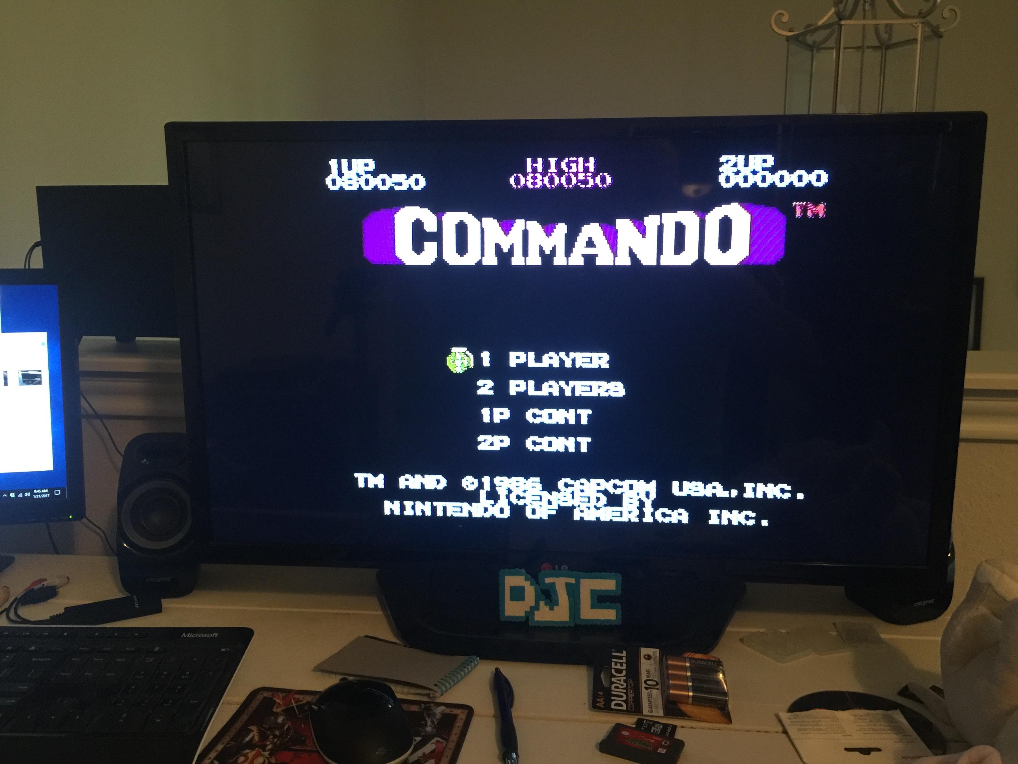 derek: Commando (NES/Famicom) 80,050 points on 2017-01-21 10:06:43