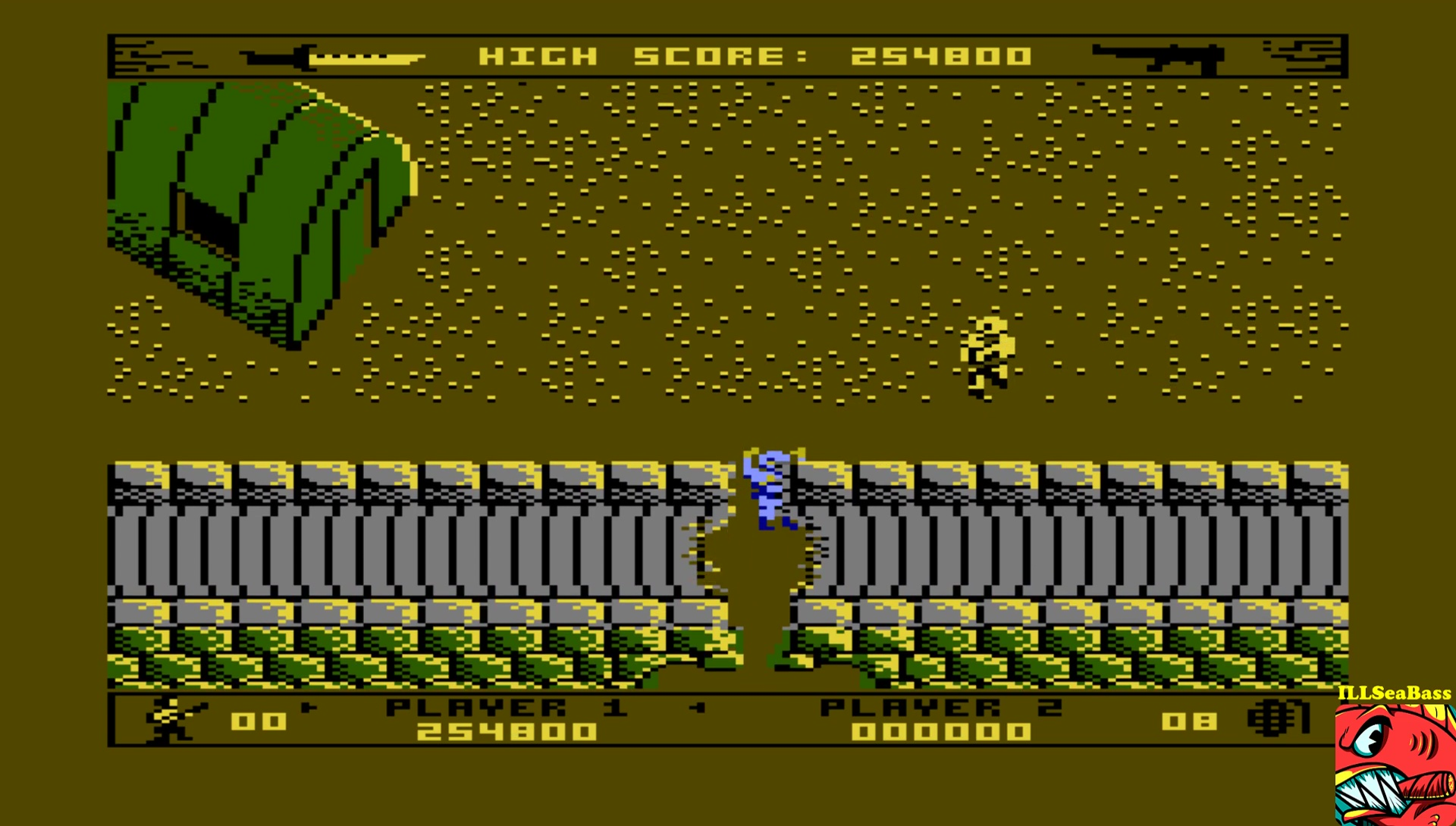 ILLSeaBass: Commando [Normal] (Atari 400/800/XL/XE Emulated) 254,800 points on 2017-07-04 02:36:55