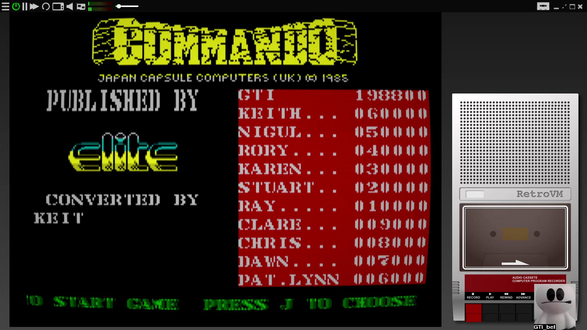 Commando 198,800 points