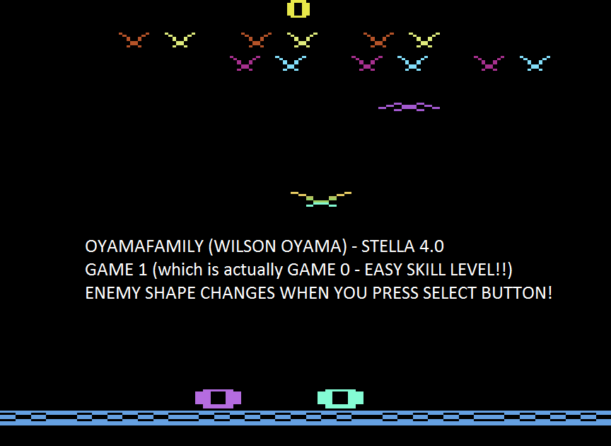 oyamafamily: Vulture Attack / Condor Attack (Atari 2600 Emulated Expert/A Mode) 1,671 points on 2015-08-12 18:41:48