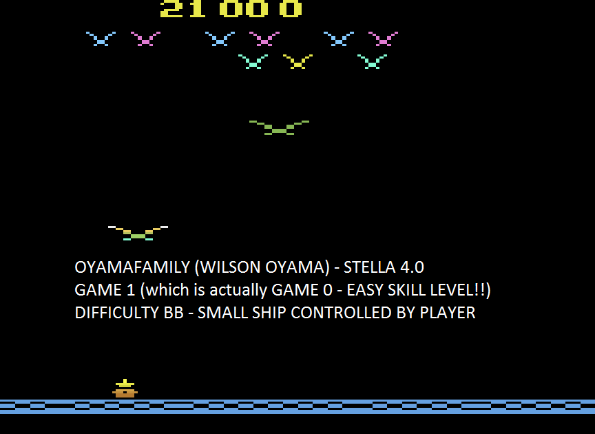 oyamafamily: Vulture Attack / Condor Attack (Atari 2600 Emulated Novice/B Mode) 21,000 points on 2015-08-12 18:41:38