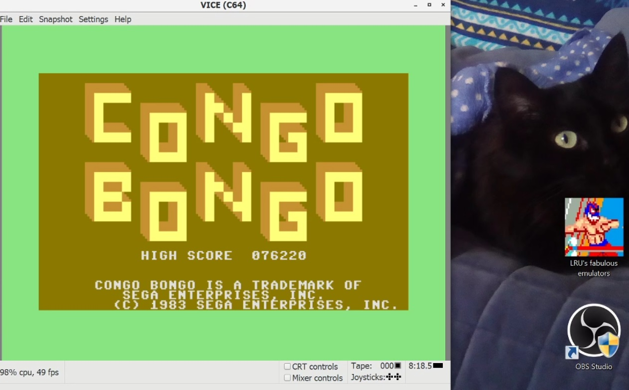 LuigiRuffolo: Congo Bongo [1983 Version] (Commodore 64 Emulated) 76,220 points on 2021-01-05 09:58:26