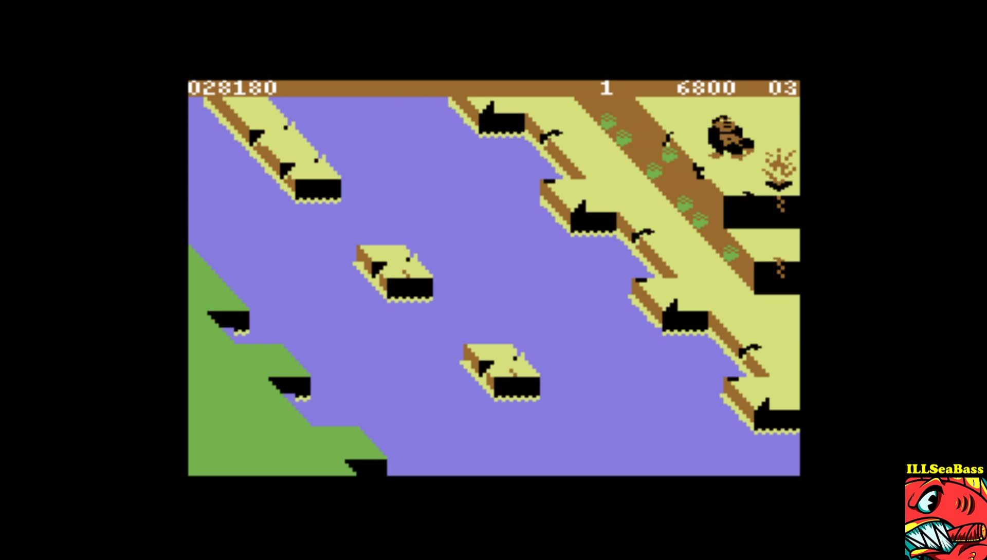 ILLSeaBass: Congo Bongo [1983 Version] (Commodore 64 Emulated) 28,180 points on 2017-02-14 01:00:04