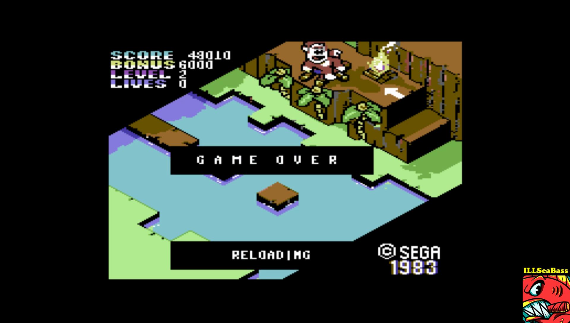 ILLSeaBass: Congo Bongo [1985 Version] (Commodore 64 Emulated) 48,010 points on 2017-01-23 16:56:59