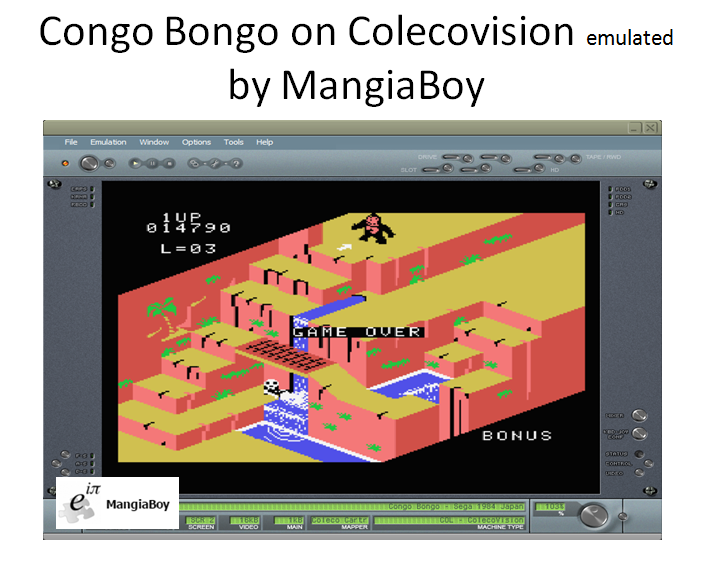 MangiaBoy: Congo Bongo (Colecovision Emulated) 14,790 points on 2016-12-02 20:00:33