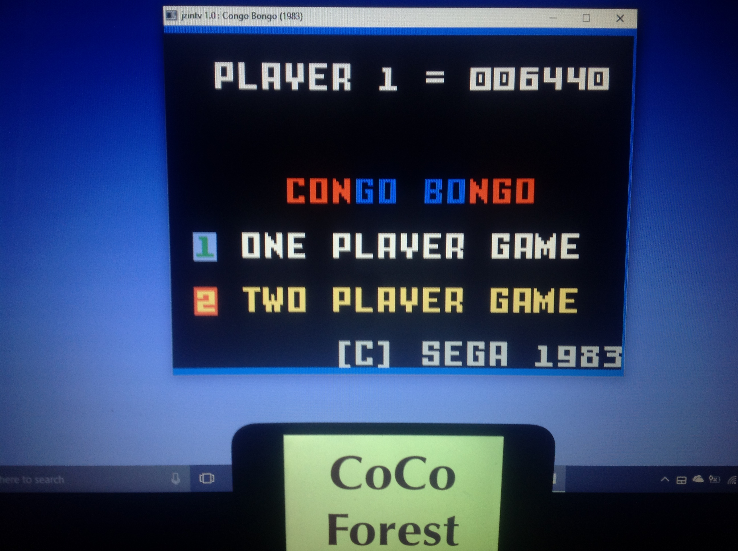 CoCoForest: Congo Bongo (Intellivision Emulated) 6,440 points on 2018-01-29 05:05:39