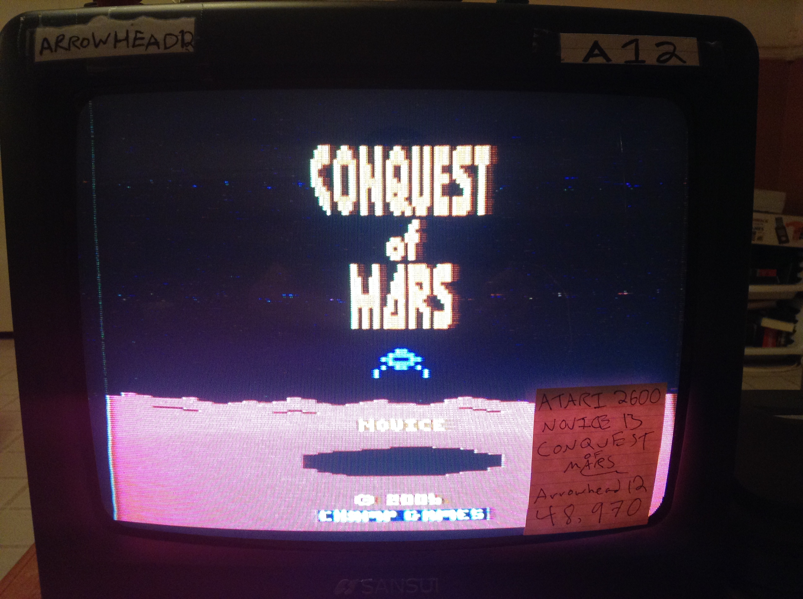 Arrowhead12: Conquest of Mars (Atari 2600 Novice/B) 48,970 points on 2019-01-01 22:12:11