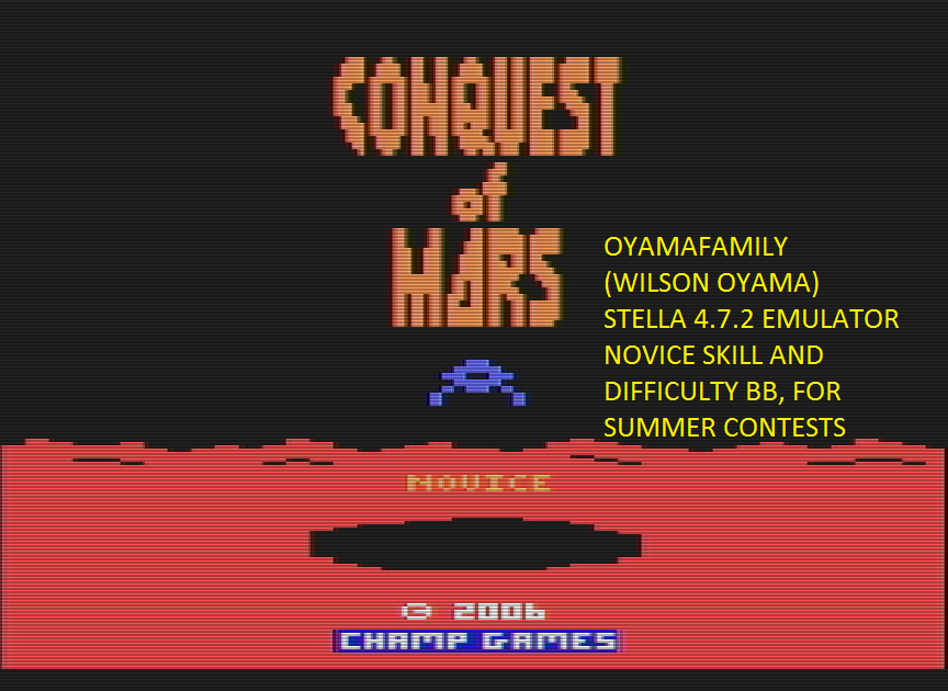oyamafamily: Conquest of Mars (Atari 2600 Emulated Novice/B Mode) 50,010 points on 2016-07-16 12:34:28