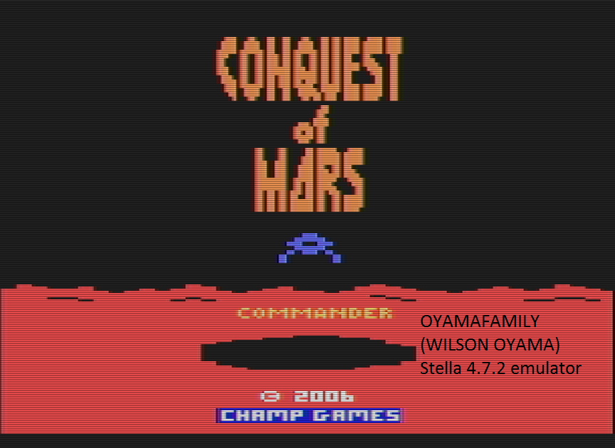 oyamafamily: Conquest of Mars: Commander (Atari 2600 Emulated Novice/B Mode) 4,000 points on 2016-07-17 11:55:29
