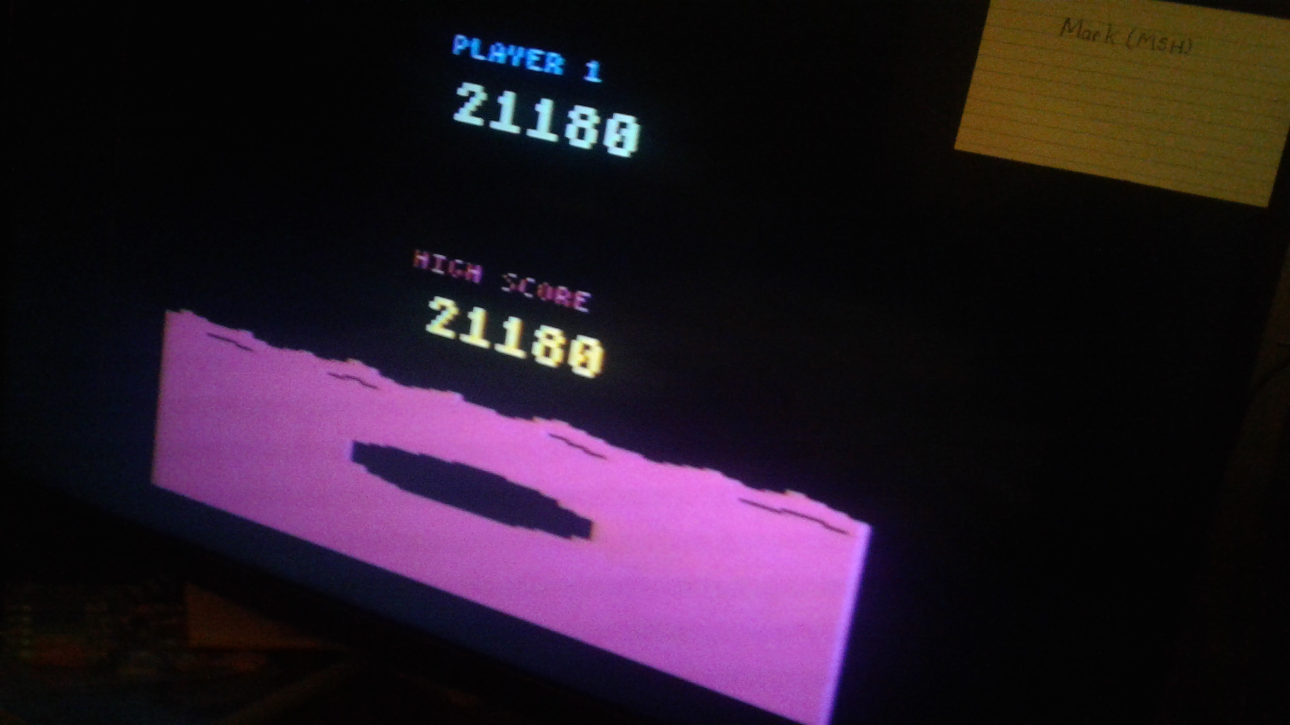 Mark: Conquest of Mars: Pilot (Atari 2600 Novice/B) 21,180 points on 2019-03-05 01:27:28