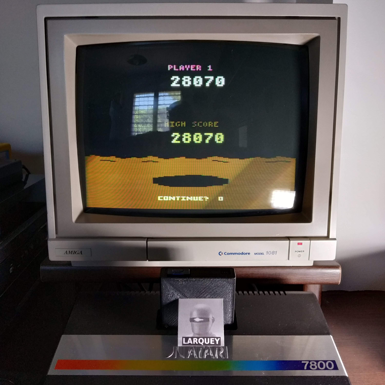 Larquey: Conquest of Mars: Pilot (Atari 2600 Novice/B) 28,070 points on 2020-07-19 13:40:45